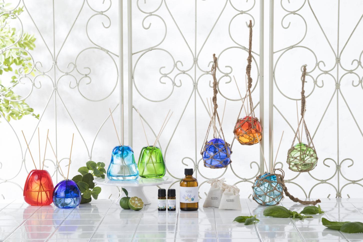 琉球ガラスとアロマディフューザーセット
